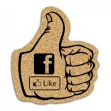 King Size Cork Thumbs Up Coaster