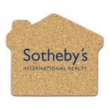 King Size Cork House Coaster