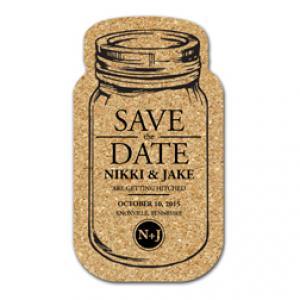 King Size Cork Mason Jar Coaster