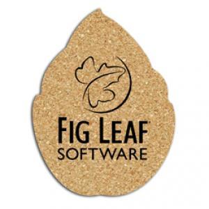 King Size Cork Leaf Coaster
