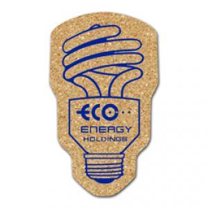 King Size Cork Fluorescent Light Bulb Coaster