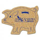 King Size Cork Piggy Bank Coaster