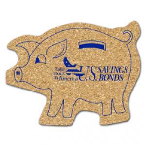 King Size Cork Piggy Bank Coaster