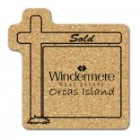 King Size Cork Real Estate Sign Coaster