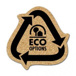 King Size Cork Recycling Arrows Coaster