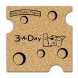 King Size Cork Swiss Cheese Coaster