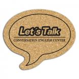 King Size Cork Talk Bubble Coaster