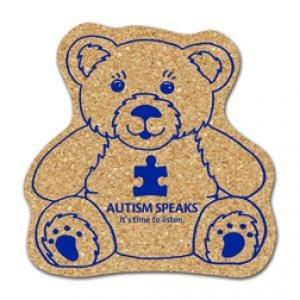 King Size Cork Teddy Bear Coaster