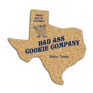 King Size Cork Texas Coaster