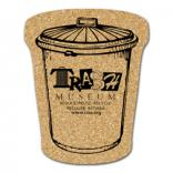 King Size Cork Trash Can Coaster