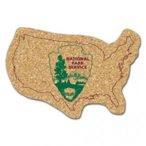 King Size Cork United States Coaster