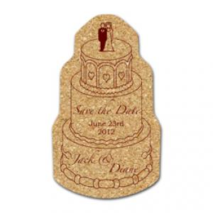 King Size Cork Wedding Cake Coaster