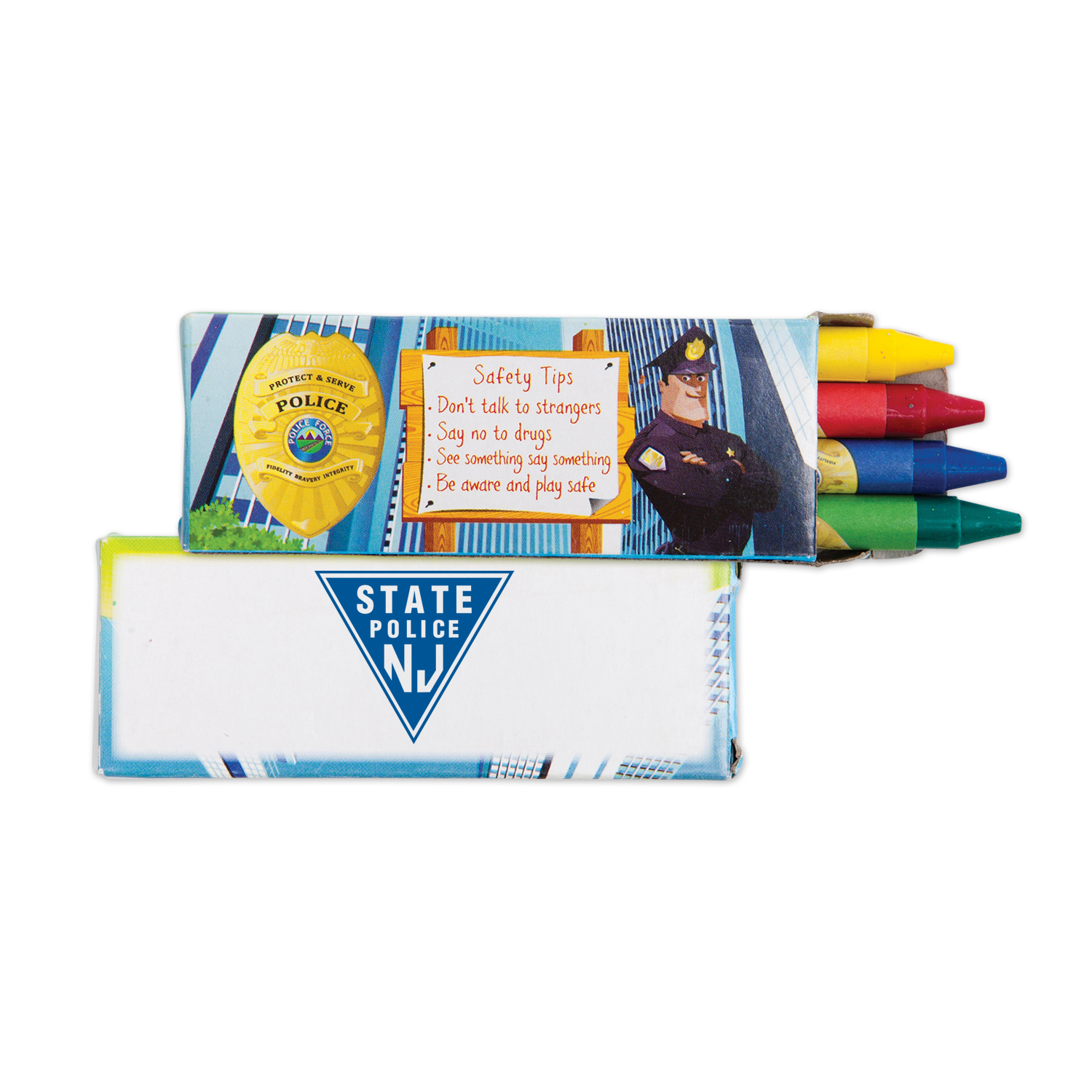 Police Safety Crayons