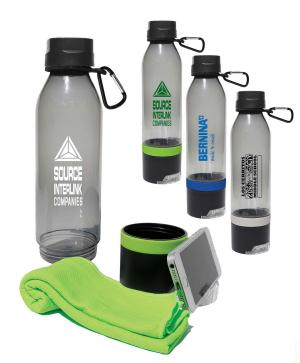 20 oz. Sport Bottle with Cooling Towel & Phone Stand