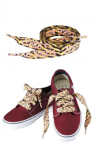 """60""""L x 3/8""""W Full Color Imprint Shoelaces"""