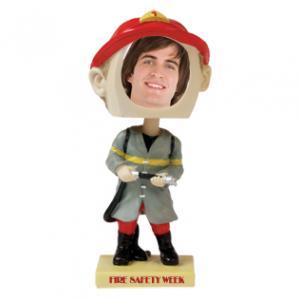 1-3/4 Dia. Fireman Bobblehead Picture Frame