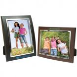 5 x 7 Curved Plastic with Metal Border Photo Frame