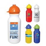 20 oz Cycle Bottle with Safety Helmet Push & Pull Cap