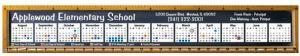 Full Color Chalkboard Theme Ruler Magnet