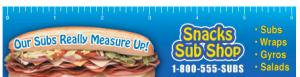 Full Color Sub/Sandwich Theme Ruler Magnet