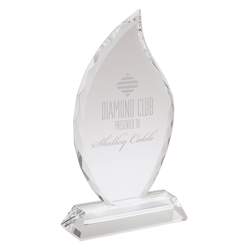 Fiamma Large Crystal Flame Award