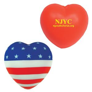 Heart Patriotic Stress Relievers