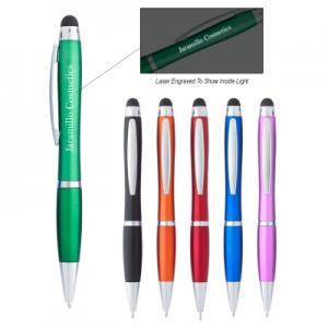 Laser Engraved Light Up Stylus Pen