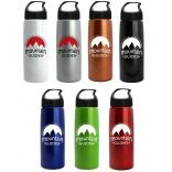 26 oz. Metalike Flair Bottle With Crest Lid