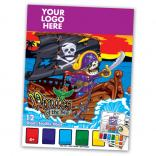 Caribbean Pirate Themed Paint Book