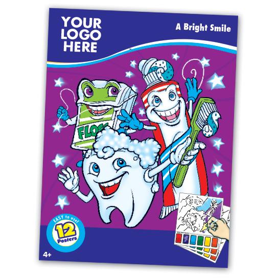 Healthy Dental Themed Paint Book