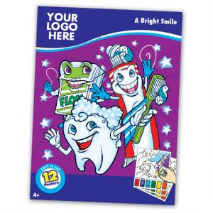 Healthy Dental Themed Paint Book