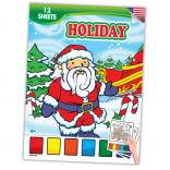 Winter Holiday Themed Paint Book