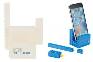 3 in 1 Lego Phone Stand with Pen and Highlighter