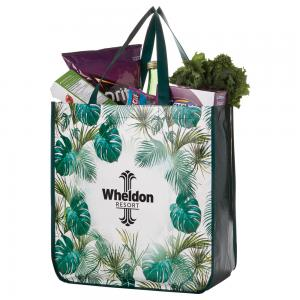Palm Leaves Laminated Non-Woven Tote