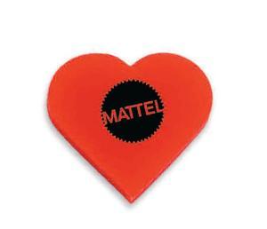 Heart Shaped Polymer Eraser