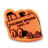 Train Shaped Polymer Eraser