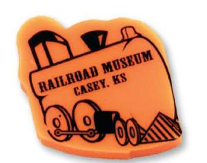 Train Shaped Polymer Eraser