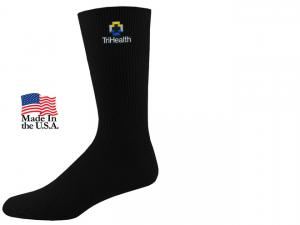 Non-Binding Relaxed Fit Crew Dress Socks (Fusion Embroidery)