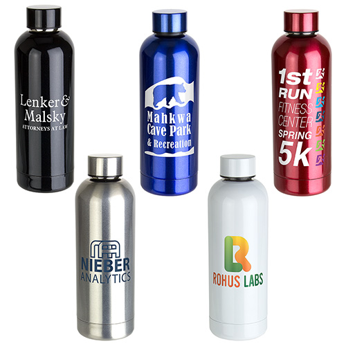 17 oz. Sleek Stainless Steel Bottle