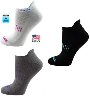 Top Flite Women's Pull Tab No Show Socks (Fusion DigiPrint)