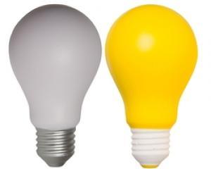 Lightbulb shaped Stress Reliever
