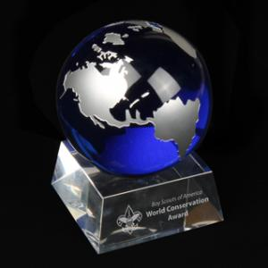 Large Crystal Globe Award