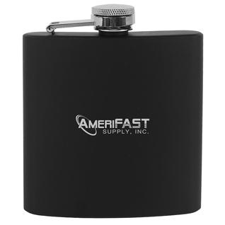 6 oz Black Stainless Steel Flask