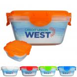 Full Color Insert Clip Top Container