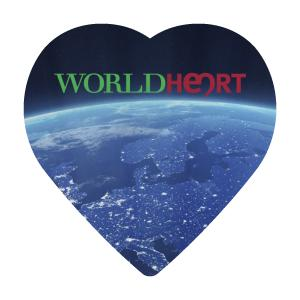 Heart Shaped Microfiber Cleaning Cloth - Full Color