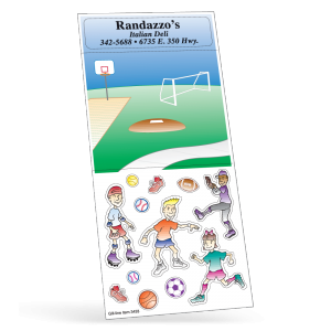 Sports Peel 'N Play Sticker Sheet Collection