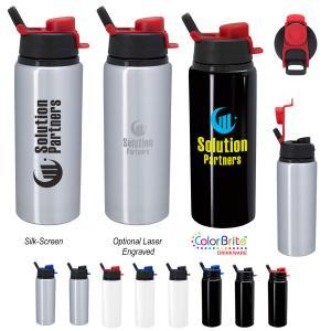 25 oz Spill-Resistant Aluminum Bottle