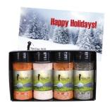 Gourmet Spice and Rub Bottle Shaker Set with Greeting Card