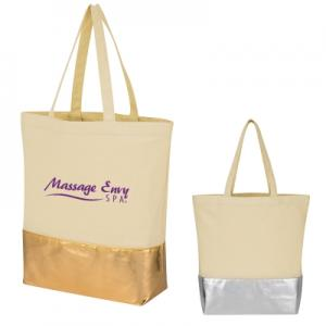 12 oz Cotton Tote Bag with Metallic Accent