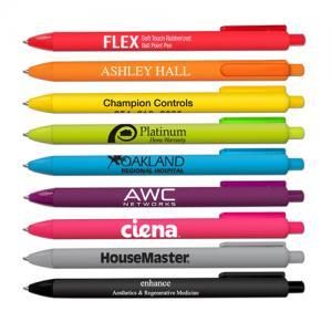Archie-Flex Soft Touch Rubberized Retractable Pen
